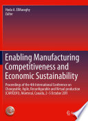 Enabling Manufacturing Competitiveness And Economic Sustainability Book PDF