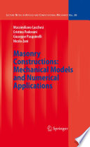 Masonry Constructions  Mechanical Models And Numerical Applications