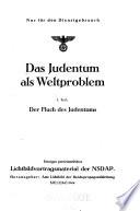 Das Judentum als Weltproblem