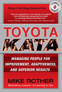 Toyota Kata Managing People For Improvement Adaptiveness And Superior Results Book PDF