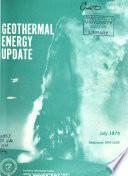 Geothermal Energy Update