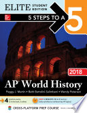 5 Steps to a 5  AP World History 2018  Elite Student Edition Book