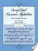 Script And Cursive Alphabets