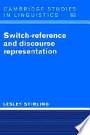 Switch Reference and Discourse Representation Book