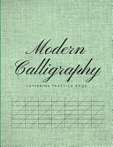 Modern Calligraphy Lettering Practice Book