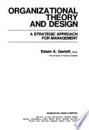 Organizational Theory and Design