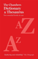 Chambers Paperback Dictionary and Thesaurus
