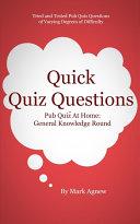Quick Quiz Questions