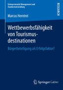 Wettbewerbsfähigkeit von Tourismusdestinationen: Bürgerbeteiligung ...