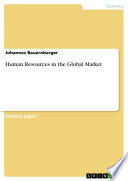 Human Resources in the Global Market