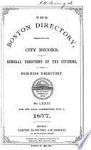 The Boston Directory Book PDF
