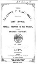 The Boston Directory