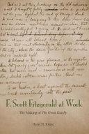 F Scott Fitzgerald At Work