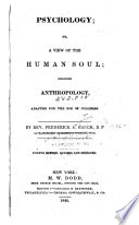 Psychology, Or, a View of the Human Soul