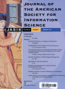 Journal of the American Society for Information Science