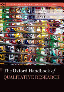 Pdf The Oxford Handbook of Qualitative Research Telecharger