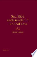 Sacrifice and Gender in Biblical Law