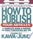 How To Publish Your Articles