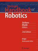 Pdf Springer Handbook of Robotics Telecharger