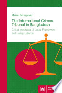 The International Crimes Tribunal in Bangladesh