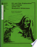 Washakie Wilderness  Oil and Gas Exploration Leasing Book