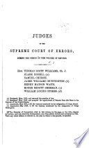 Reports of the Cases Argued and Determined in the Supreme Court of Errors of the State of Connecticut