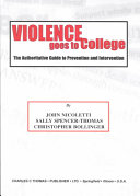 Violence Goes to College Book