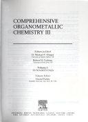 Comprehensive Organometallic Chemistry Iii Book PDF