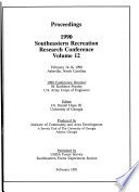 Proceedings, 1990 Southeastern Recreation Research Conference
