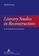 Literary Studies in Reconstruction