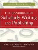 The Handbook of Scholarly Writing and Publishing Pdf/ePub eBook