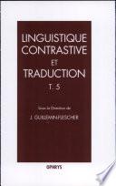 Linguistique contrastive et traduction