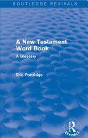 A New Testament Word Book