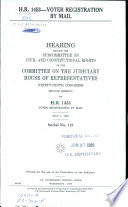 H.R. 1453--voter Registration by Mail