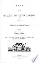 Laws of the State of New York Book