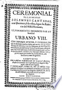 Ceremonial de las missas solemnes cantadas