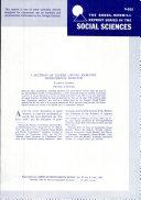 A Method of Linear Causal Analysis  Dependence Analysis