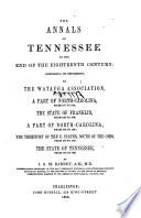 The annals of Tennessee to the end of the eighteenth century.epub