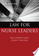 Law For Nurse Leaders Second Edition