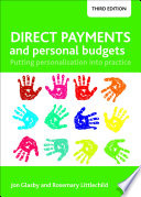 Direct Payments And Personal Budgets Book