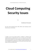 Cloud Computing Security Issues