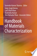 Handbook of Materials Characterization Book