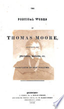 The Poetical Works Of Thomas Moore Including Melodies Ballads Etc
