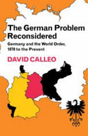 Pdf The German Problem Reconsidered:Germany and the World Order 1870 to the Present