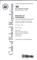 Code of Federal Regulations  Title 40  Protection of Environment  Pt  52 01 52 1018  Revised as of July 1  2007