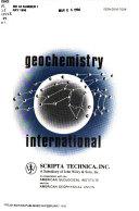 Geochemistry International ebook