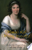 Women S Life Writing 1700 1850
