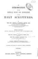 An introduction to the critical study and knowledge of the Holy Scriptures