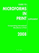 Guide To Microforms In Print