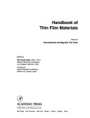 Handbook of Thin Film Materials  Nanomaterials and magnetic thin films Book